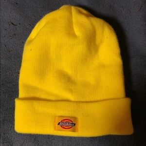 Dickies Yellow Beanie Hat Basic Knit Bright Color